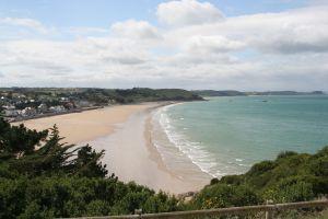 Plaża na Bretanii we Francji